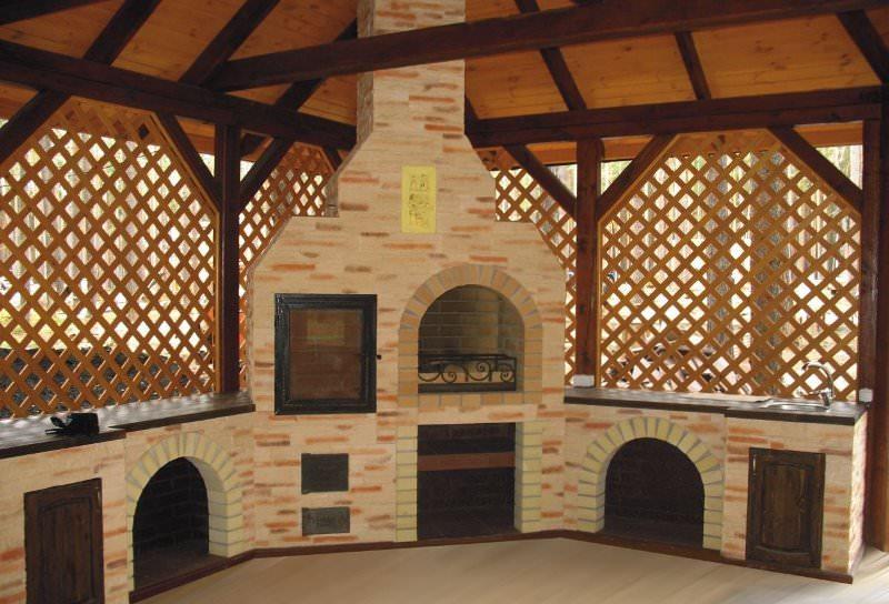 Как построить мангал с крышей?