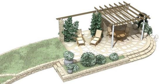 Отдых своими руками: строим зону патио на даче