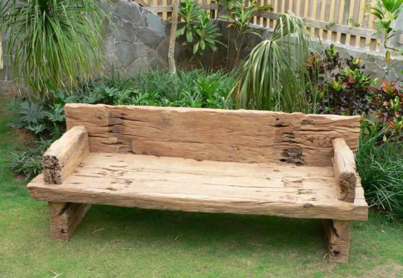 Как сделать садовую скамейку своими руками