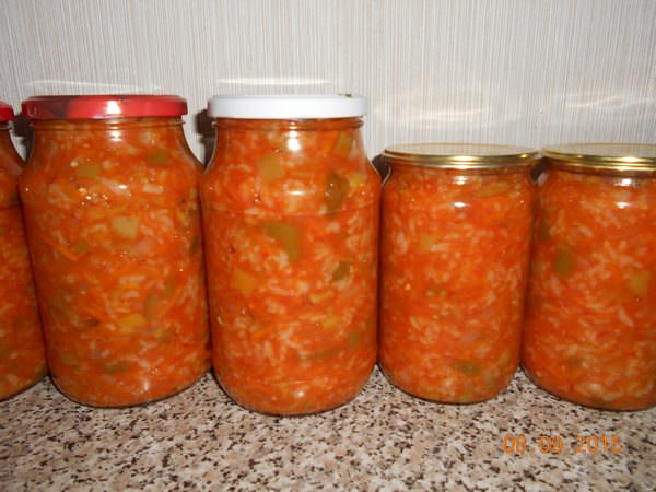 Салат с рисом на зиму: ТОП-5 рецептов