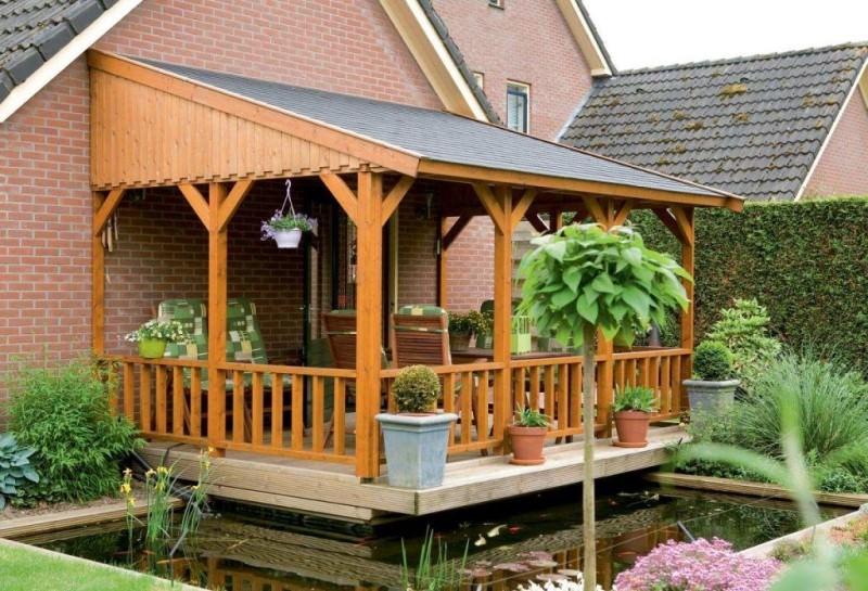 Виды проектов веранды к дому