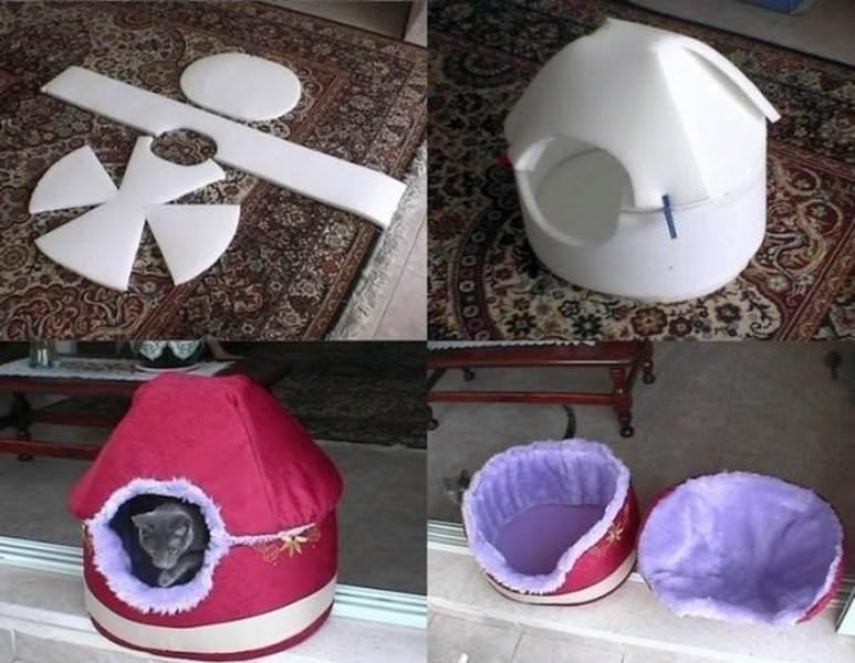 Как сделать котёнку домик своими руками