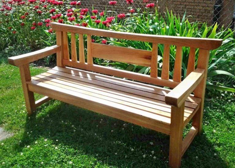 Изготовить садовые скамейки своими руками